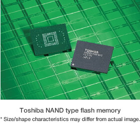 Toshiba NAND type flash memory (* Size/shape characteristics may differ from actual image.) image
